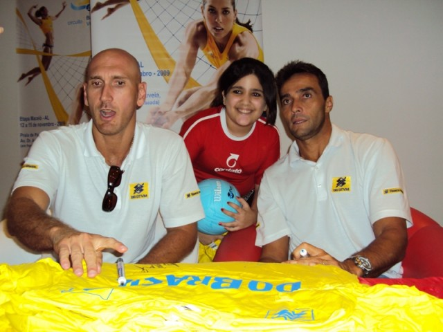 Jogadores do Circuito Nacional de Vôlei de Praia.
