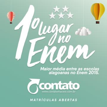 Contato é primeiro lugar no ENEM 2015